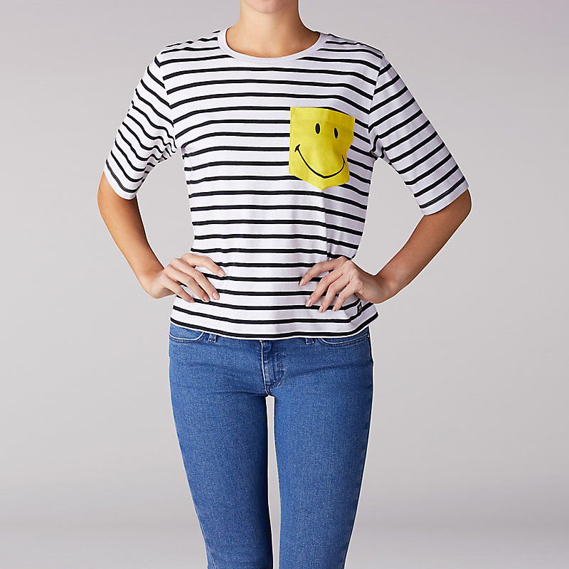 Lee x Smiley Striped Pocket Tee