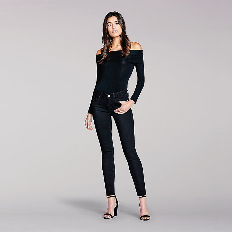 Lee Body Optix Mid Rise Skinny Jean-Black