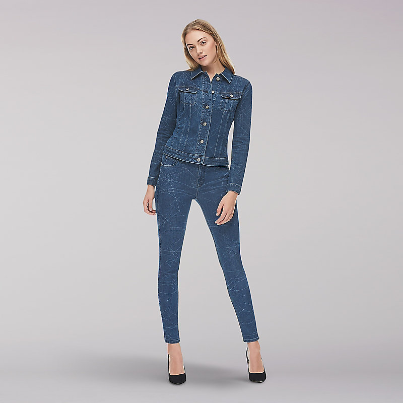 Lee Body Optix High Rise Skinny Jean-Blue Rose